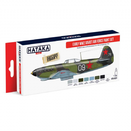 Hataka Early WWII Soviet Air Force Paint Set (Acrylic)